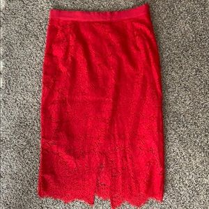 Red lace H&M skirt